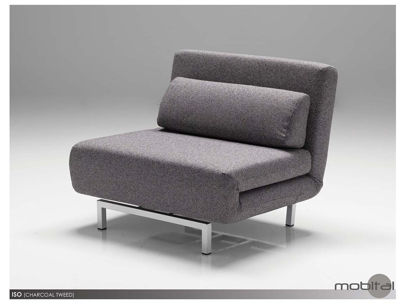 Fabric Motion Pivoting Chair Bed Iso Motion Sofas Mobital